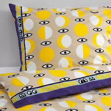 Ikea Glodande Child's Single Quilt/Duvet Cover and 2 pillowcases - yellow/beige