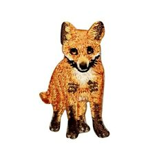 ID 0720 Fox Wild Animal Embroidered Iron On Applique Patch