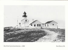 (P0001) Postcards - Lighthouses - Old Point Loma, San Diego CA in 1888 (modern)