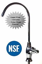 Water Filter (Reverse Osmosis RO) faucet- chrome, lead free, Coke Style
