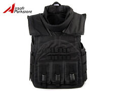 Tactical Military SDU Airsoft Paintball Wargame Plate Carrier Combat Vest Black