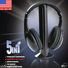 5IN1 Wireless Headphone Casque Audio Sans Fil Ecouteur Hi-Fi Radio FM TV MP3 PC
