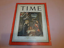 Time Weekly Magazine Volume XLVI December 24, 1945 Christmas Jesus Joseph Mary