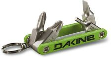 2017 DAKINE SNOWBOARDING FIDGET SCREW DRIVER SET REPAIR GREEN SERVICE KEY RING