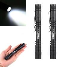 2pcs XPE-R3 AAA Clip Mini Pocket LED Flashlight Penlight Torch Light US G3N1