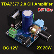 DC 12V TDA7377 2x 20W Dual Channel Stereo Audio Amplifier Board Kits for Car