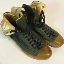 DIOR HOMME men ankle high gold fashion sneakers shoe size 10.5/43.5