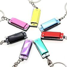 Metal Key Ring Keychain Mini 4 Hole Harmonica Model For Kid ChildXmas Gift Toy