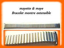 BRACELET MONTRE EXTENSIBLE ARGENTÉ DU 10 mm AU 14 mm REF.K21