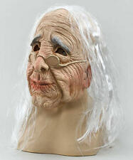 Scary Old Woman Grandma Mask Wig - Halloween Fancy Dress