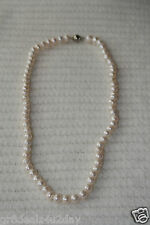 White Pearl Rope Strands Clasp Pendant Necklace New Fashion Fine Jewelry