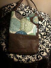 Tote Bag Cross Pocket style Medallian/Tooled Leather Handmade Handbag Purse new