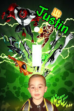 PERSONALIZED YOUR PHOTO BEN 10 CARTOON LIGHT SWITCH PLATE COVER