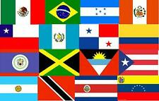 Latin America 3x5' Flag Set of 20 Country Lightweight Polyester Flags NEW