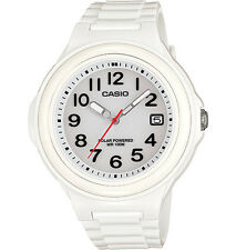 Casio Women's Solar Powered Watch, 100 Meter WR, White Resin, Date,  LXS700H-7BV