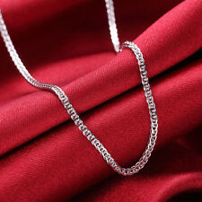 New 16.7INCH Solid Platinum 950 Necklace Bling Wheat Link Necklace Chain