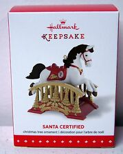 Hallmark 2015 Keepsake Santa Certified Rocking Horse Ornament