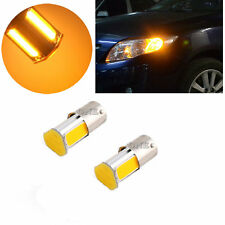 2X Amber/Yellow 12V 1156 4 COB LED Turn Signal Rear Light Car Bulb Lamp