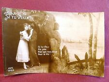RPPC Dix Postcard Romantic French If You Want...The Two of Us For Life