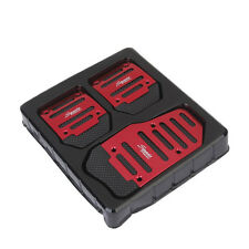 Thickening Non Slip Manual Transmission Red Pedal Cover Brake Clutch Accelerator