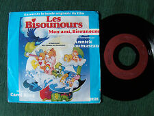 "LES BISOUNOURS, B.O. film / ANNICK THOUMAZEAU 7"" CARRERE 13945 care bears movie"