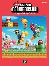 New Super Mario Bros. Wii : Simplified Piano Solos (2013, Paperback)