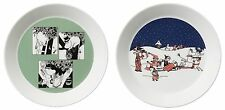 Moomin Collectors Plates Green and Christmas Arabia Finland 2014 *New FINLAND