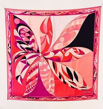 NEW EMILIO PUCCI Abstract Print 100% SILK Scarf Foulard Made In Italy