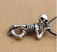 Cool titanium stainless steel Harley punk skull Necklace Pendant NF