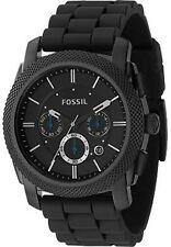 Fossil Men's Machine FS4487 Black Silicone Analog Quartz Fashion Watch