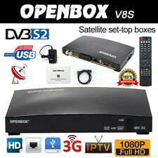 OPENBOX V8S Digital Free to air PVR Full HD TV Satellite Receiver Box Genuine UK