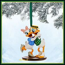 Disney Store Donald And Daisy Duck Swing Dancing Flocked Sketchbook Ornament
