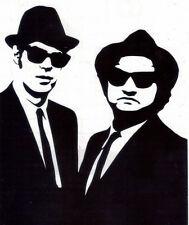 THE BLUES BROTHERS #6 JAKE & ELWOOD PEEL & RUB ON BLACK VINYL DECAL!