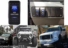 "(1) Blue LED Light Bar Toggle Switch Cree 20"" 50"" Off Road New Free Shipping"
