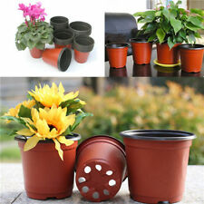 10X Mini Plastic Round Flower Pot Terracotta Nursery Planter Home Garden Decor H