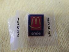 McDonalds Vintage Smile Promo Pin Golden Arches Ronald McDonald Rare Fast Food