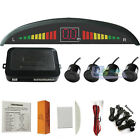 LED Backlight Display Car Parking 4 Sensors Reverse Backup Radar Kit Sound Alert