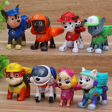 Hot 8pcs Paw Patrol Figures Backpack Projectile Doll+Badge Kids Boy Girl Toy Set