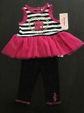 NWT Juicy Couture Baby Girl Legging Set ~ Size 0/3 Months