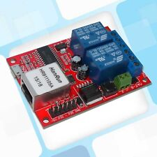 LAN Ethernet 2CH Relay Board Delay Switch Relais TCP/UDP Controller WEB server