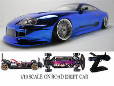 1/10 Scale  TOYOTA SUPRA- RTR Custom RC Drift -Cars  2.4Ghz & Charger blue