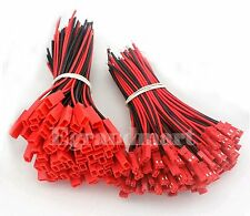 100 Pairs 145mm JST Plug Connector Cable Wire Male & Female For RC Lipo Battery