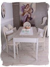 Table À Manger Style Maison De Campagne Salle À Vintage Nostalgie Blanc