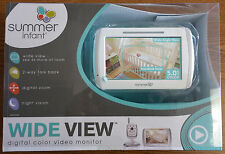 SUMMER INFANT WIDE VIEW DIGITAL COLOR VIDEO MONITOR SET 29000B - NEW