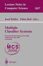 Multiple Classifier Systems: First International Workshop, MCS 2000 Cagliari, It