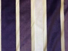 Bill Beaumont Verve In Heather Designer Velvet Striped Fabric By The Metre