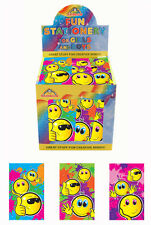 PACK OF 12 SMILEY NOTE BOOKS - PARTY LOOT BAG FILLER FAVORS