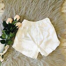 Women Lady Luxury Silk Satin Shorts Pants Underwear Briefs French Knickers cream