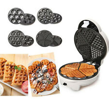 220V 4in1 Household automatic cake machine Cupcakes Donuts Waffle Machine 640W