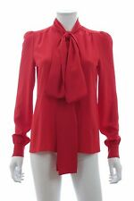 Sonia Rykiel Silk Pussy-Bow Blouse / Red / RRP: £565.00